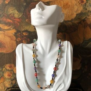 🔥 Vintage Art Glass Beaded Necklace